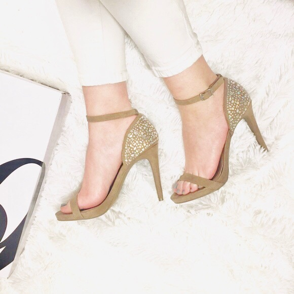 5042a7e8f Red Carpet Jeweled Ankle Strap High Heel